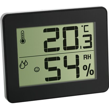 TFA Digitales Thermo-Hygrometer Silber