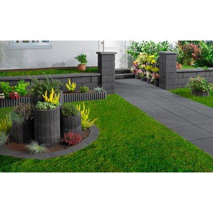 kann rundpalisaden randstein anthrazit 50 cm x 25 cm x 6. Black Bedroom Furniture Sets. Home Design Ideas