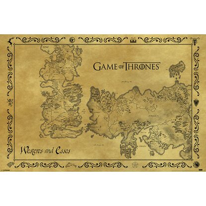 Wandbild Game of Thrones 90 cm x 60 cm