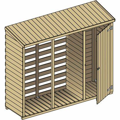 holzunterstand mit abstellraum 250x210 200x80 cm kaufen bei obi. Black Bedroom Furniture Sets. Home Design Ideas