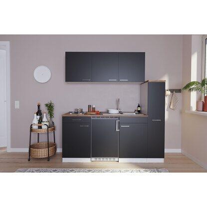 respekta k chenzeile kb180ws 180 cm schwarz wei kaufen bei obi. Black Bedroom Furniture Sets. Home Design Ideas