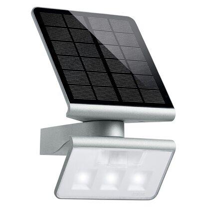 steinel led solar au enwandleuchte mit bewegungsmelder x solar l s silber kaufen bei obi. Black Bedroom Furniture Sets. Home Design Ideas