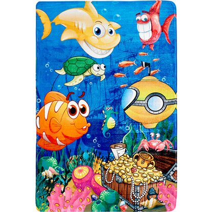 Kinder-Teppich Fairy Tale 638 Under The Sea 100 cm x 150 cm