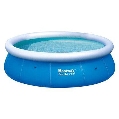 Bestway fast pool set 366 cm x 91 cm kaufen bei obi for Bestway pool folie