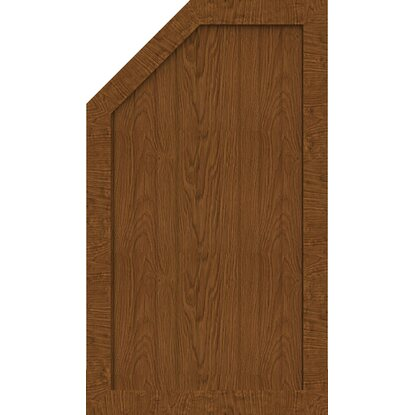 GroJa Sichtschutzzaun BasicLine Typ M Links 70x120/90x4,8 cm Golden-Oak