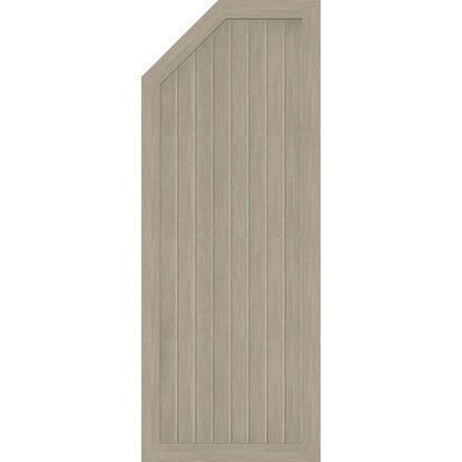 GroJa Sichtschutzzaun BasicLine Typ E Links 70x180/150x4,8 cm Sheffield-Oak