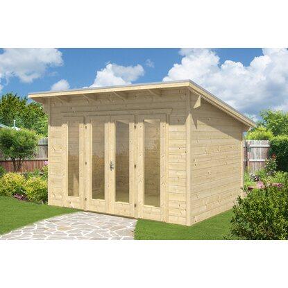 skan holz gartenhaus ostende 1 natur b x t 350 cm x 250 cm kaufen bei obi. Black Bedroom Furniture Sets. Home Design Ideas