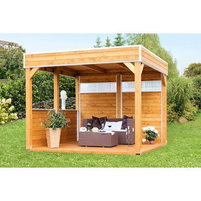 skan holz 4 eck pavillon toulouse unbehandelt 302 cm x 302 cm kaufen bei obi. Black Bedroom Furniture Sets. Home Design Ideas