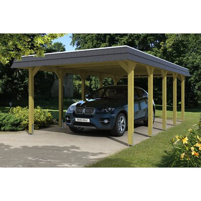 skan holz walmdach carport spreewald 396 cm x 741 cm blende in schwarz kaufen bei obi. Black Bedroom Furniture Sets. Home Design Ideas