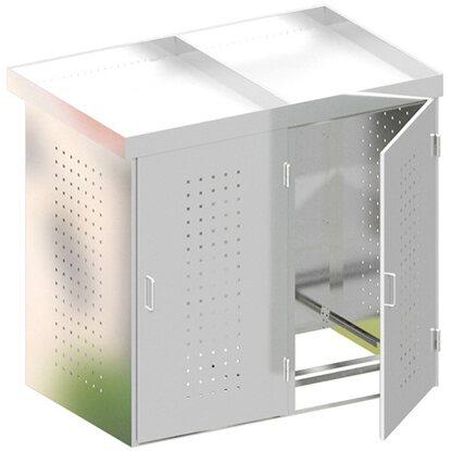 m lltonnenbox binto 2 edelstahl 2er box mit pflanzschale kaufen bei obi. Black Bedroom Furniture Sets. Home Design Ideas