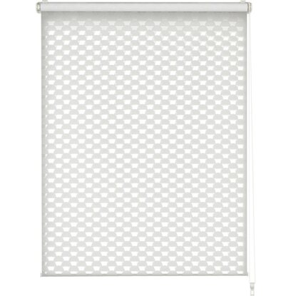 Gardinia Easy Fix Doppelrollo Cut-Out Kreis Weiß 75 cm x 150 cm