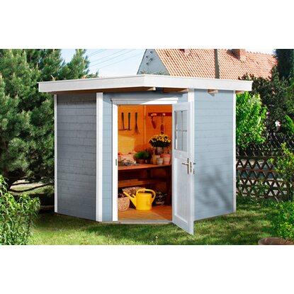 weka holz gartenhaus angolo grau a bxt 209 cm x 205 cm kaufen bei obi. Black Bedroom Furniture Sets. Home Design Ideas
