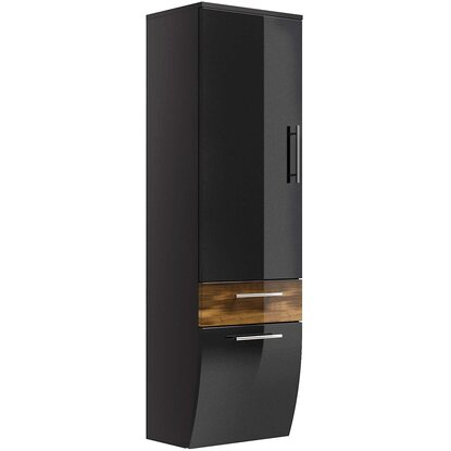 posseik hochschrank 40 cm salona anthrazit walnuss kaufen bei obi. Black Bedroom Furniture Sets. Home Design Ideas