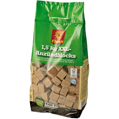 Flash XXL-Anzündblocks Holz & Wachs 1,5 kg