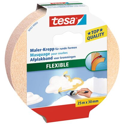 Tesa Maler-Krepp Flexible Beige 25 m x 30 mm