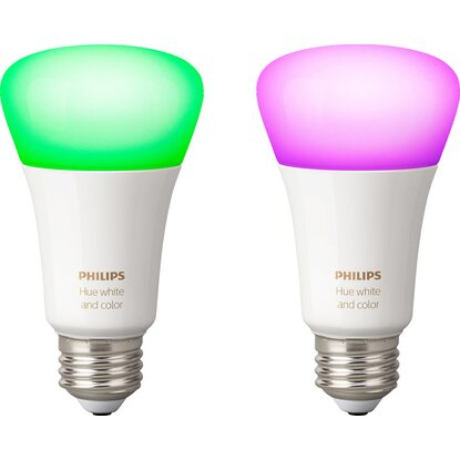 Philips Hue LED-Lampe White and Color Ambiance E27/10 W, 806 lm, 2er-Pack EEK:A+