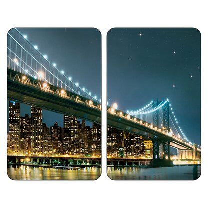Wenko Abdeckplatte Universal Brooklyn Bridge 2er-Set