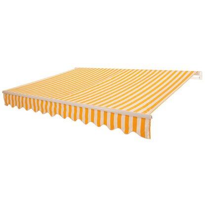 obi gelenkarm markise aventura 300 cm x 200 cm gelb wei gestreift kaufen bei obi. Black Bedroom Furniture Sets. Home Design Ideas