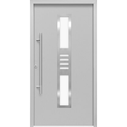 Sicherheits-Haustür ThermoSpace Köln RC2 Komfort 110 x 210 cm Grau Links