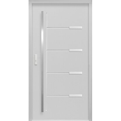 Sicherheits-Haustür ThermoSpace Oslo RC2 Komfort 110 x 210 cm Grau Links