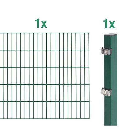 metallzaun anbau-set doppelstabmatte grün z. einbetonieren 80 cm x, Garten und Bauen
