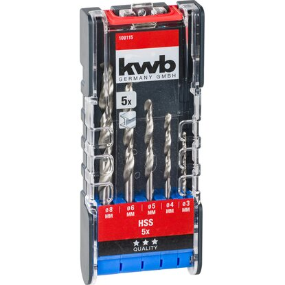 kwb Power-Box HSS Metallbohrersatz 5-teilig