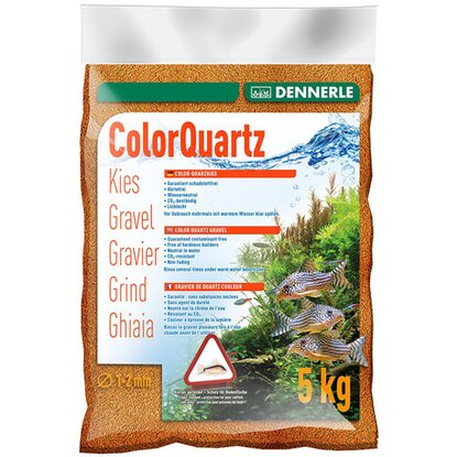 Dennerle Aquarien-Color-Quarzkies Orange 1-2 mm 5 kg