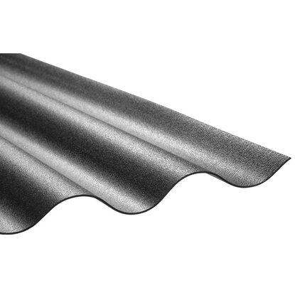 pvc wellplatte sinus 76 18 schwarz 80 cm x 120 cm kaufen bei obi. Black Bedroom Furniture Sets. Home Design Ideas