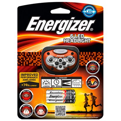 Energizer 6 LED Headlight inkl. Alkalina Batterien