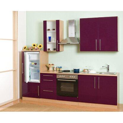 Mebasa Küchenzeile Cucina 270 Cm Komplett Mit Geräten Lila Kaufen