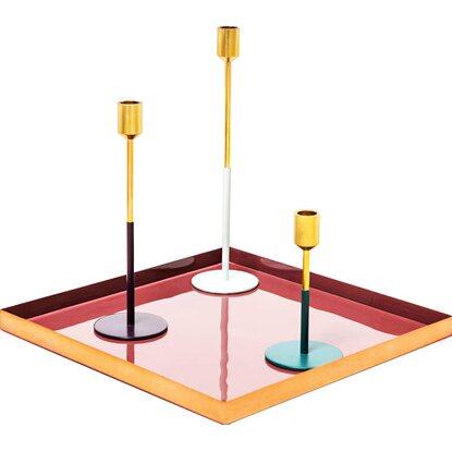 kerzenhalter 3er set saga 180 gold pflaume hellgrau petrol. Black Bedroom Furniture Sets. Home Design Ideas