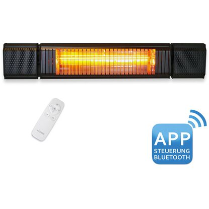 Vasner Bluetooth Heizstrahler Appino Beatzz LED Backlight Schwarz