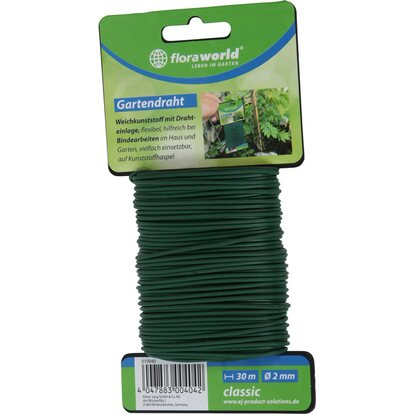 Floraworld Gartendraht 30 m x 2 mm