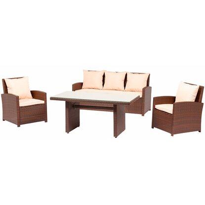 esstisch lounge gruppe 4 tlg kaufen bei obi. Black Bedroom Furniture Sets. Home Design Ideas