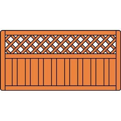 vorgartenzaun lupinia honigfarben lasiert 180 cm x 90 cm. Black Bedroom Furniture Sets. Home Design Ideas