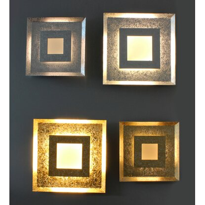 Luce Design LED-Wandleuchte Window Gold 32 cm x 32 cm EEK: A+
