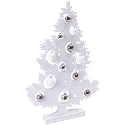 LED Deko Objekt Shiny Tree Weiß ca. 64 cm