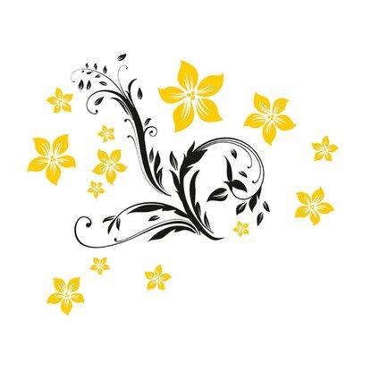 eurographics wandtattoo floral ornament kaufen bei obi. Black Bedroom Furniture Sets. Home Design Ideas