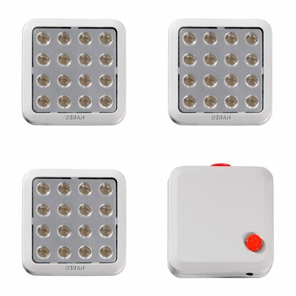 Osram EEK: A LED QOD Lichtquadrate Base-Kit  3 Module
