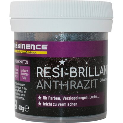 Resinence Resi-Brillant Glitzerzusatz Anthrazit 40 g