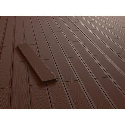 kovalex wpc terrassendiele glatt braun 2 6 cm x 14 5 cm meterware kaufen bei obi. Black Bedroom Furniture Sets. Home Design Ideas