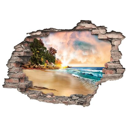 Euroart Wandsticker Strand  Hole in the Wall 50 cm x 70 cm