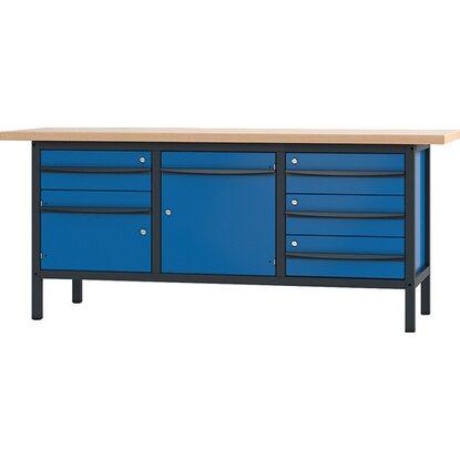pador werkbank 2 t ren 4 schubladen 200 cm kaufen bei obi. Black Bedroom Furniture Sets. Home Design Ideas