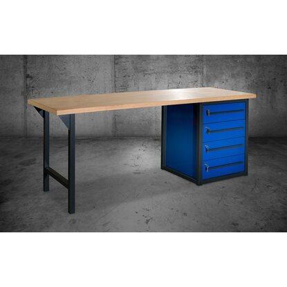 pador werkbank 4 schubladen 200 cm kaufen bei obi. Black Bedroom Furniture Sets. Home Design Ideas