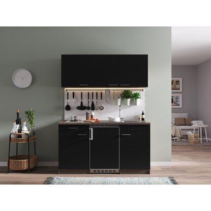 respekta k chenzeile kb150eys 150 cm schwarz eiche york. Black Bedroom Furniture Sets. Home Design Ideas
