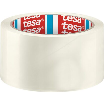 Tesa Pack Paketband Solid & Strong Transparent 66 m x 5 cm
