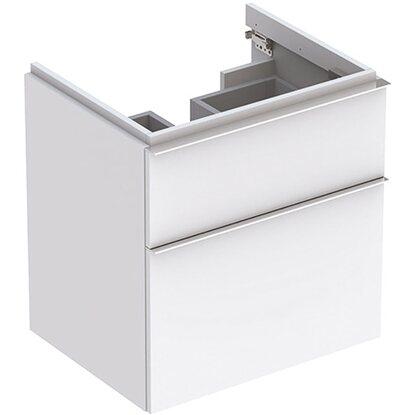 Geberit Waschbeckenunterschrank 59,5 cm iCon mit 2 Schubladen Weiß Matt