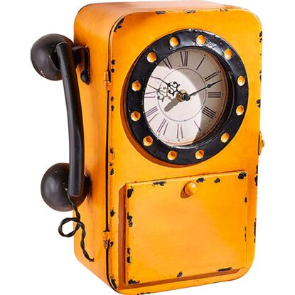 Best of home metall wanduhr telefon 32 cm x 24 cm kaufen for Best moebel24