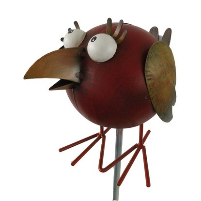 silex gartenstecker vogel metall 22 cm x 15 cm x 20 cm. Black Bedroom Furniture Sets. Home Design Ideas