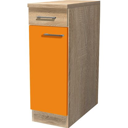 Flex-Well Classic Unterschrank Flexia 30 cm Orange/Weiß-Sonoma Eiche